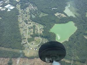 One GREEN lake.