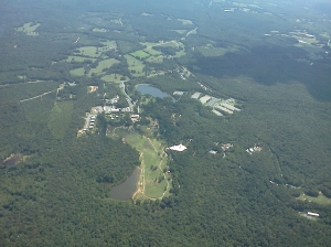NC Zoo in Asheboro from 3,000 feet.
